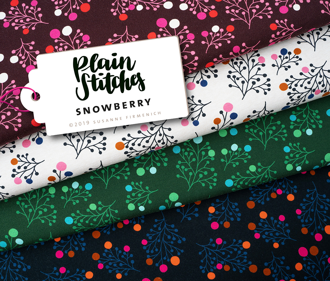 Plain Stitches - SNOWBERRY