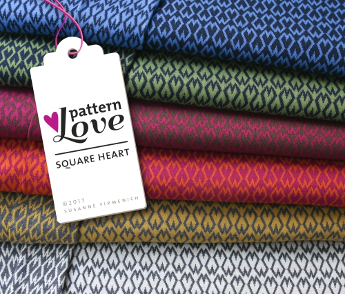 Pattern Love - Square Heart